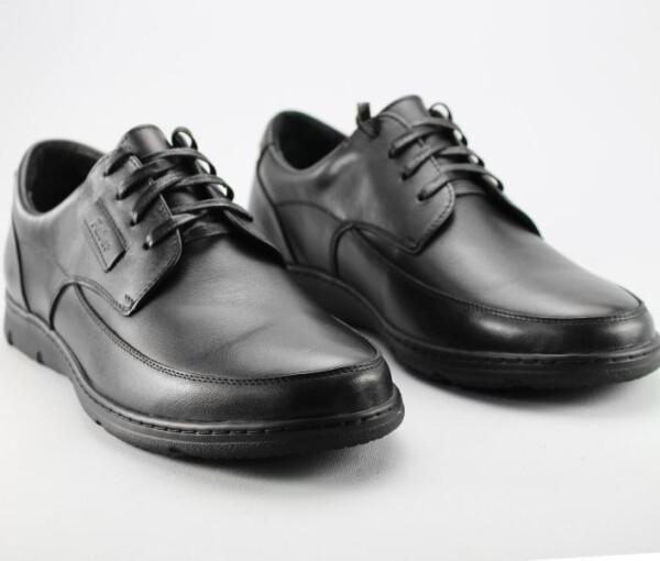 демисезонные мужские туфли Faber 127802/1 черного цвета из натуральной кожи