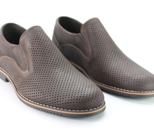 Классические летние мужские туфли Faber 638620/21 коричневого цвета